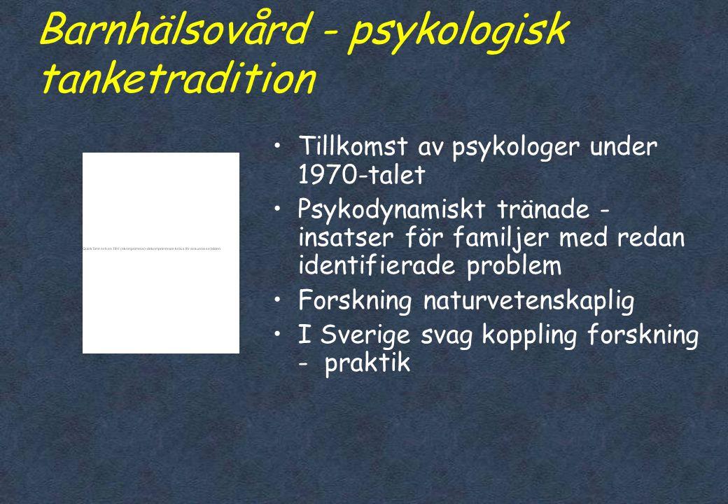 Barnhälsovård - psykologisk tanketradition