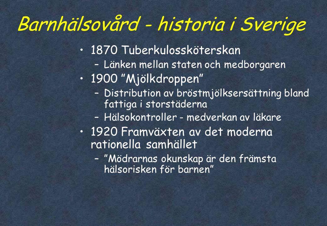 Barnhälsovård - historia i Sverige