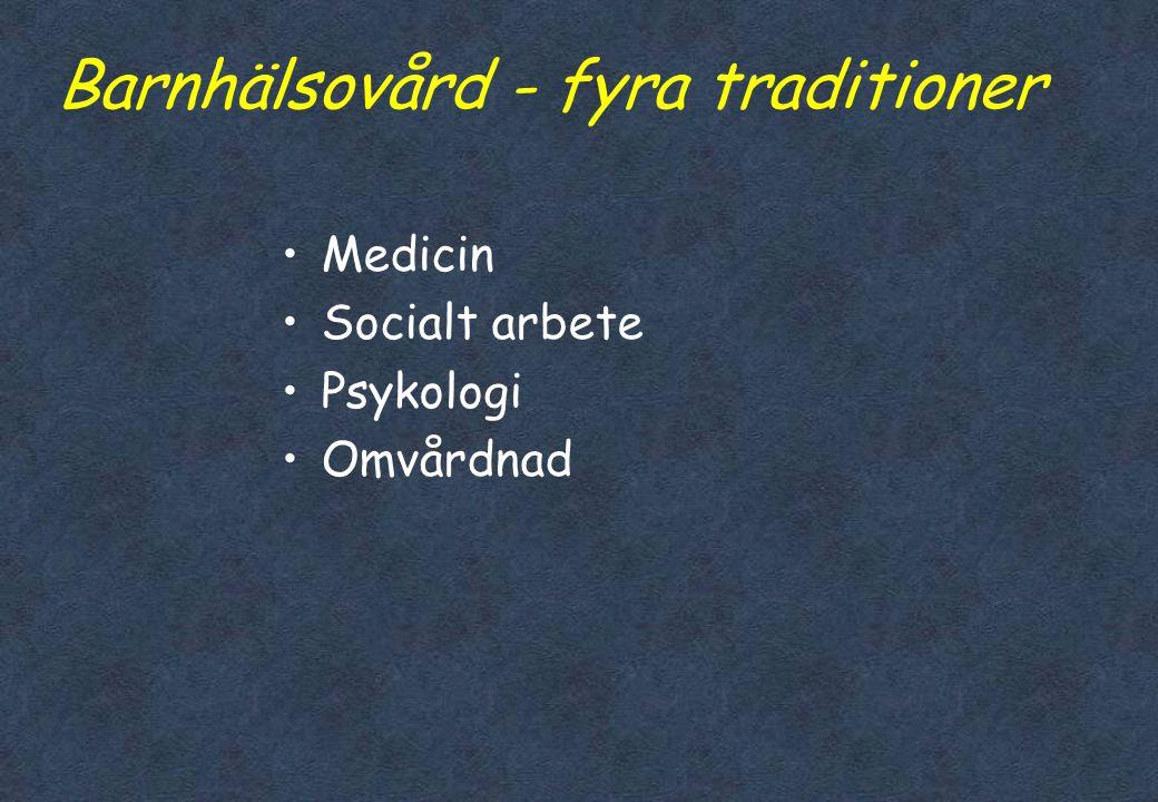 Barnhälsovård - fyra traditioner