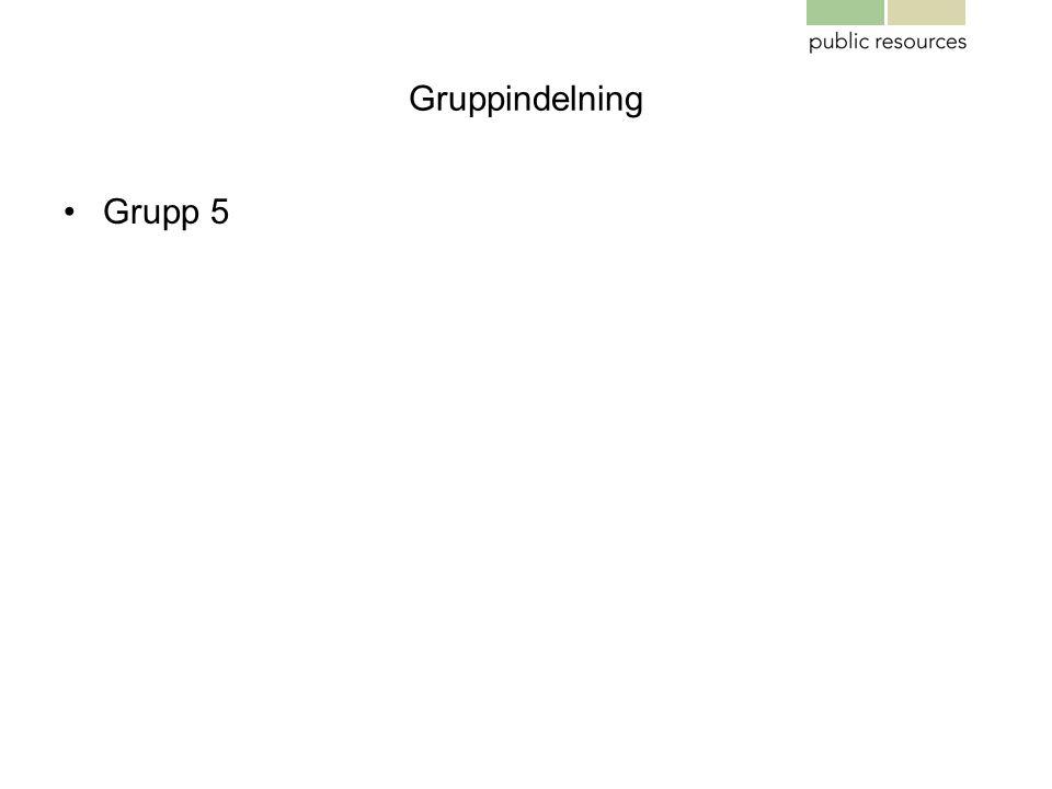 Gruppindelning Grupp 5
