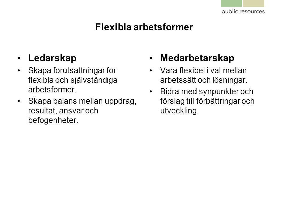 Flexibla arbetsformer