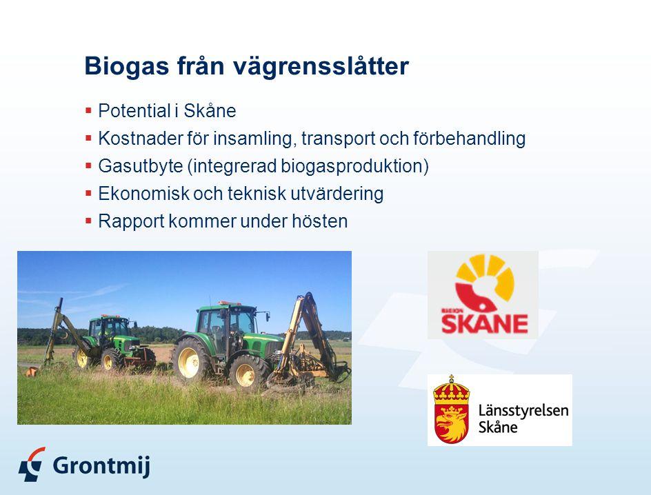 Biogas från vägrensslåtter