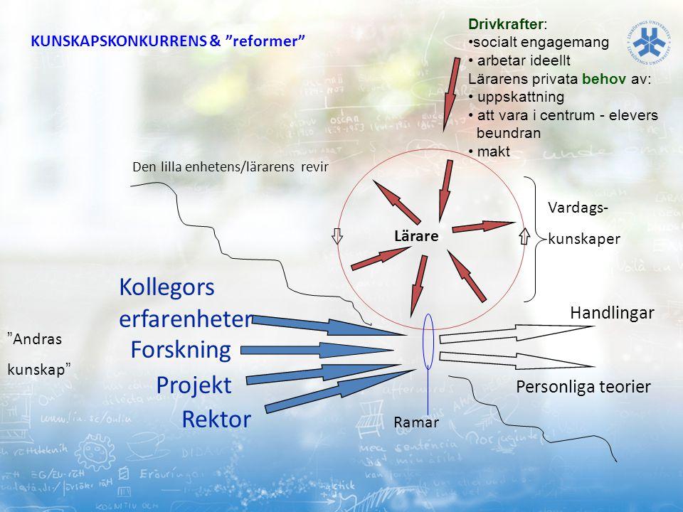 Kollegors erfarenheter Forskning Projekt Rektor Handlingar