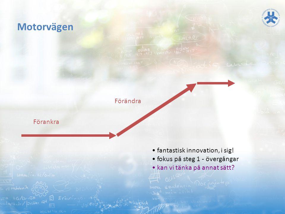 Motorvägen Förändra Förankra • fantastisk innovation, i sig!