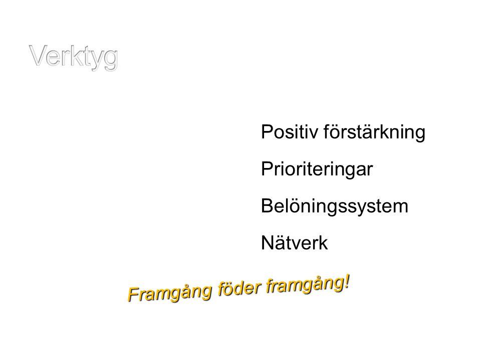 Verktyg Positiv förstärkning Prioriteringar Belöningssystem Nätverk