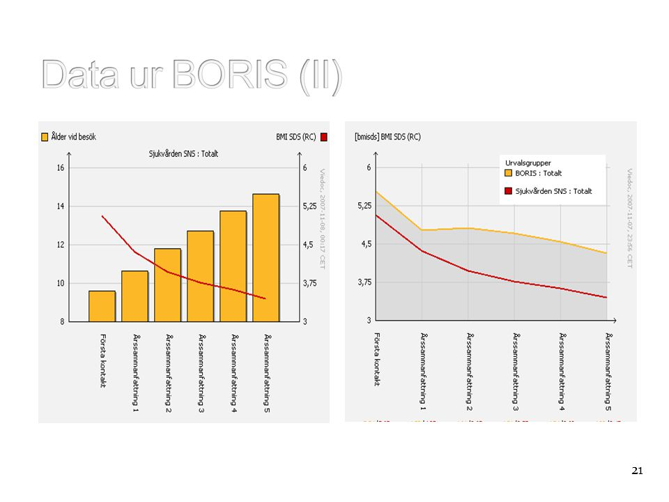 Data ur BORIS (II) 21