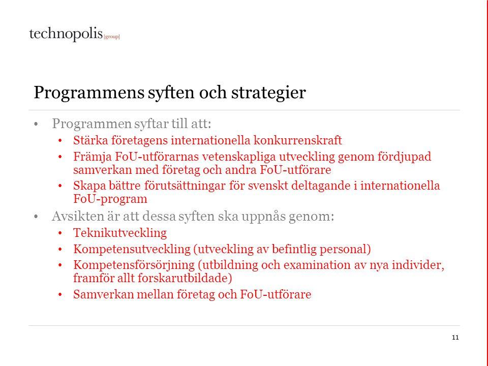 Programmens syften och strategier