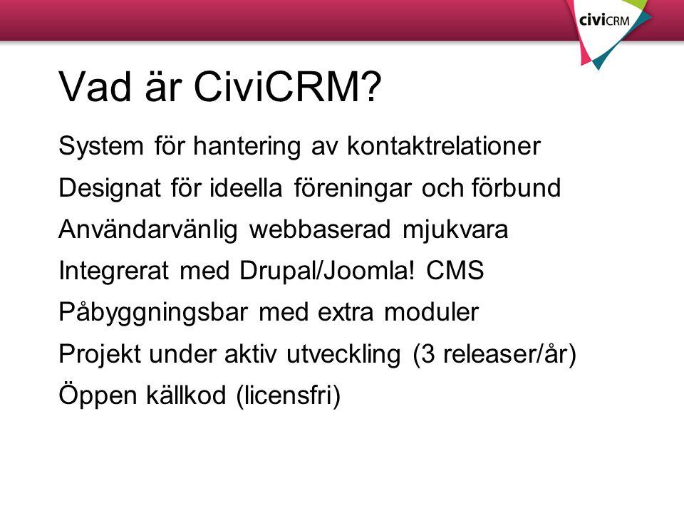 Vad är CiviCRM System för hantering av kontaktrelationer