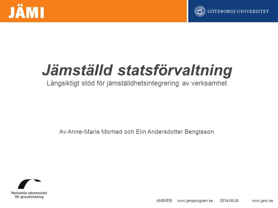 Av Anne-Marie Morhed och Elin Andersdotter Bengtsson