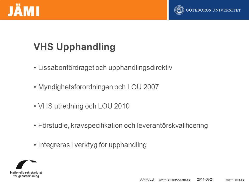 VHS Upphandling Lissabonfördraget och upphandlingsdirektiv