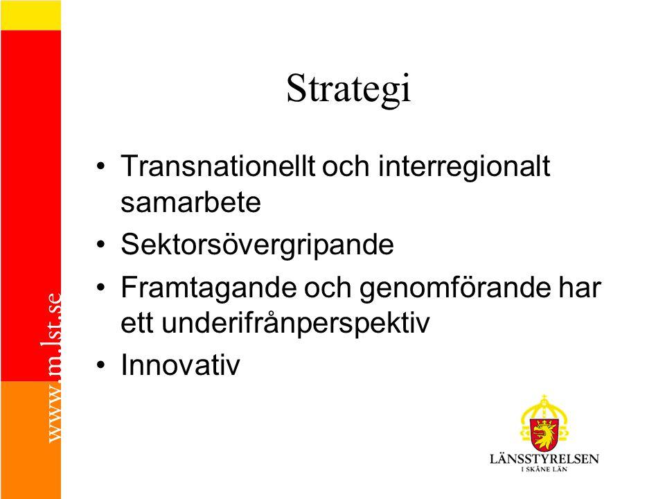 Strategi Transnationellt och interregionalt samarbete