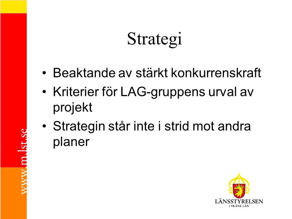 Strategi Beaktande av stärkt konkurrenskraft