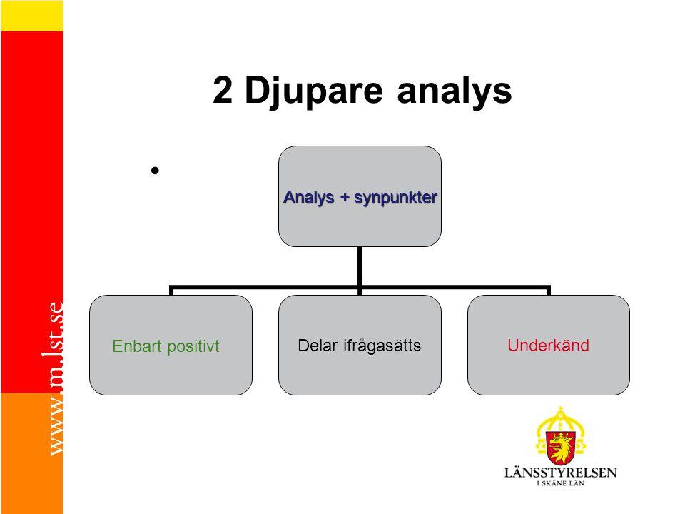 2 Djupare analys