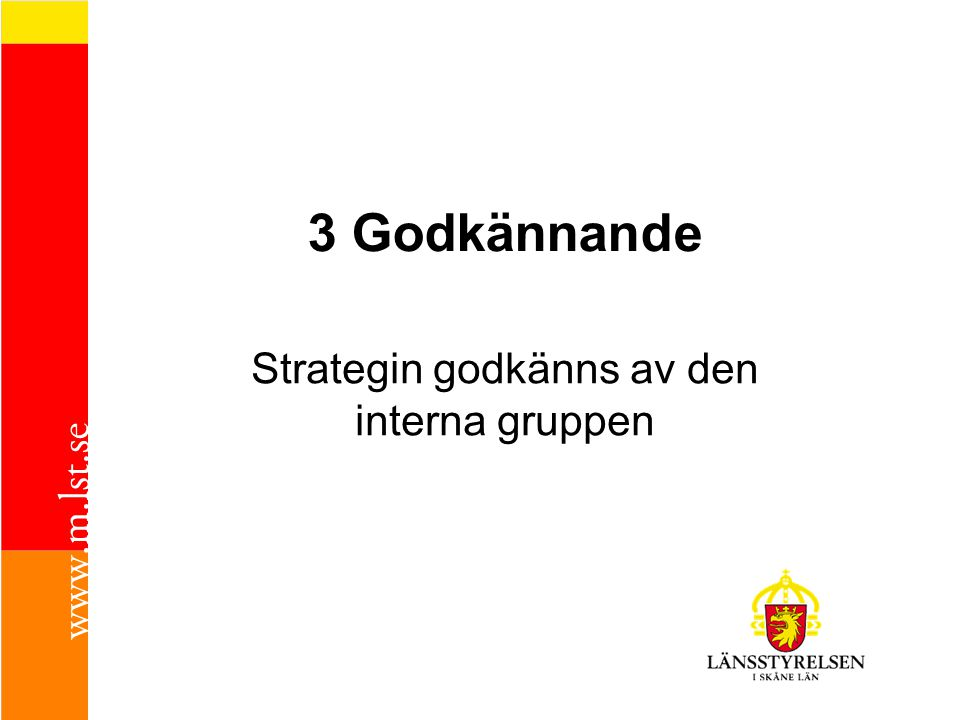 Strategin godkänns av den interna gruppen