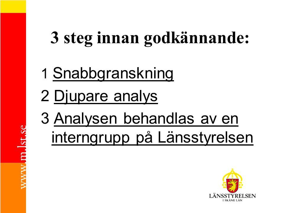 3 steg innan godkännande: