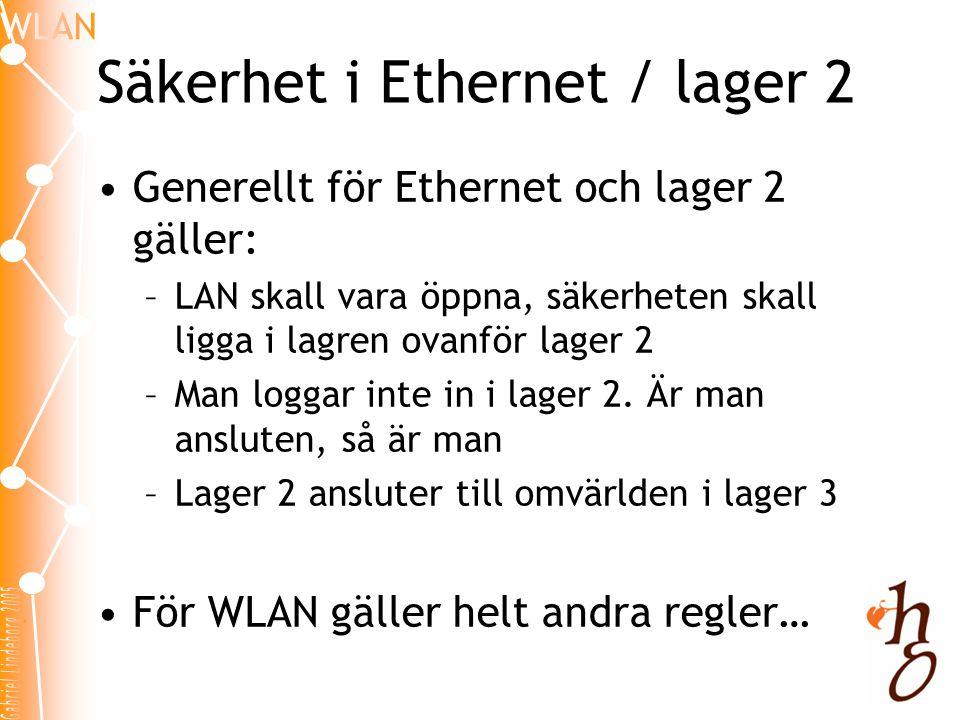 Säkerhet i Ethernet / lager 2