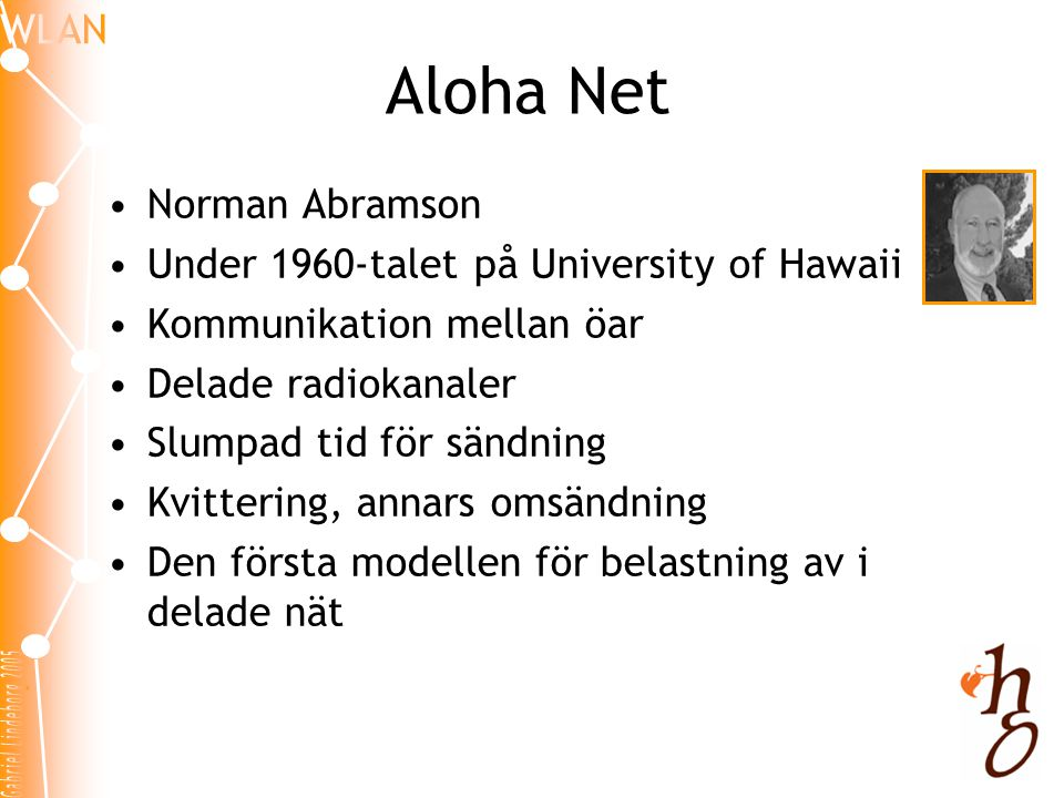 Aloha Net Norman Abramson Under 1960-talet på University of Hawaii