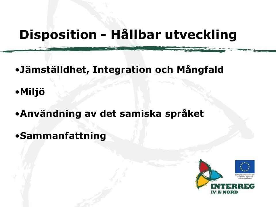 Disposition - Hållbar utveckling