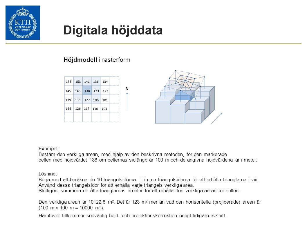 Digitala höjddata Höjdmodell i rasterform 24