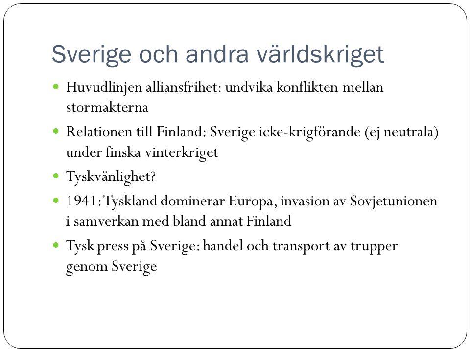 Sverige och andra världskriget