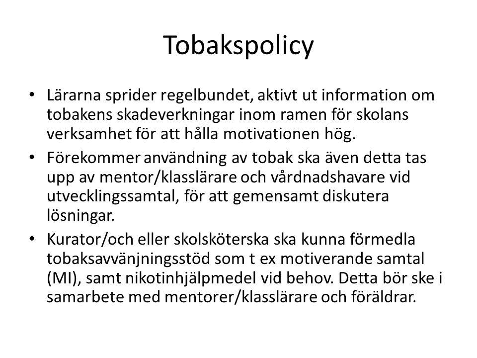 Tobakspolicy