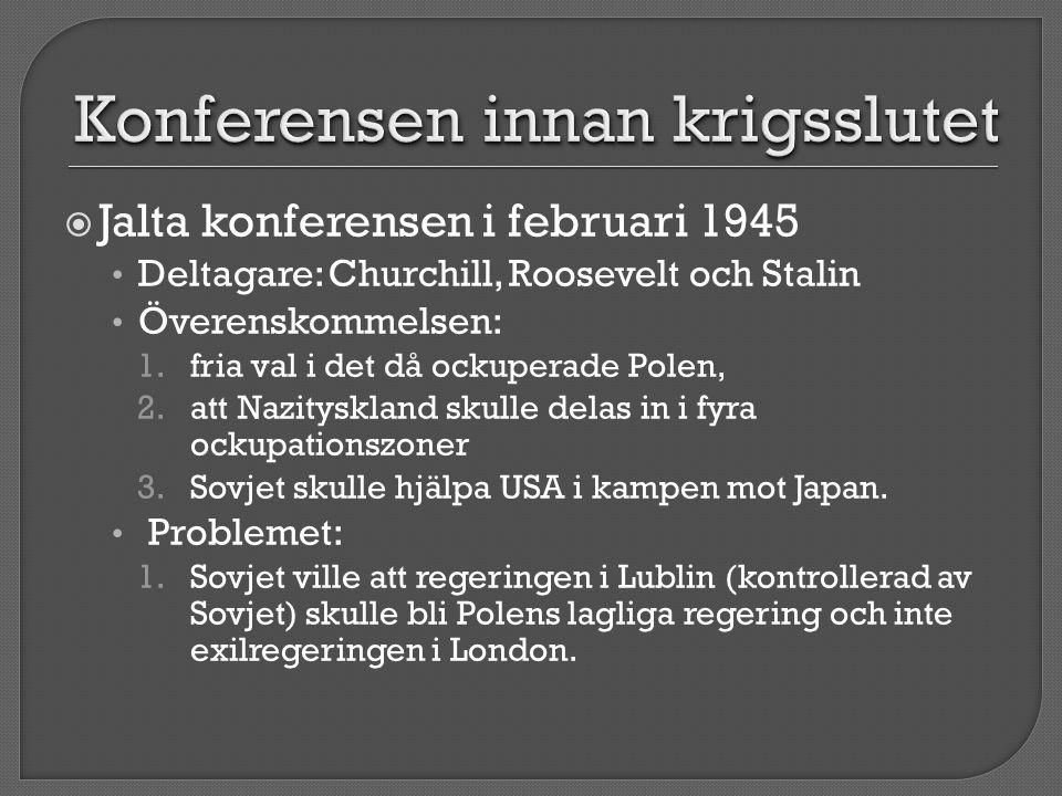 Konferensen innan krigsslutet