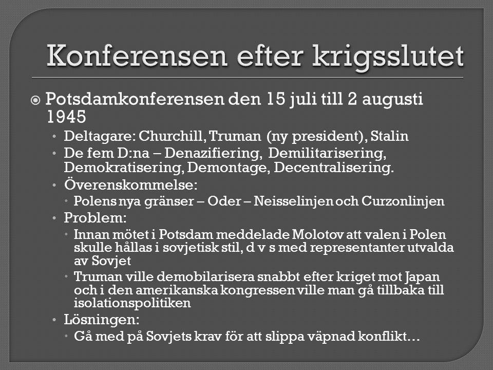 Konferensen efter krigsslutet