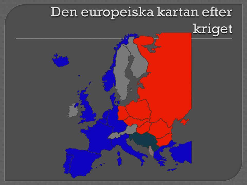 Den europeiska kartan efter kriget