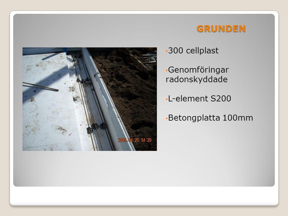 GRUNDEN 300 cellplast Genomföringar radonskyddade L-element S200