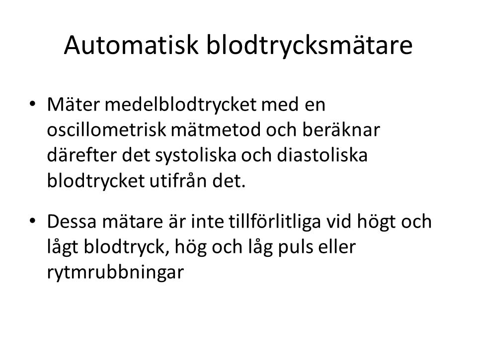 Automatisk blodtrycksmätare