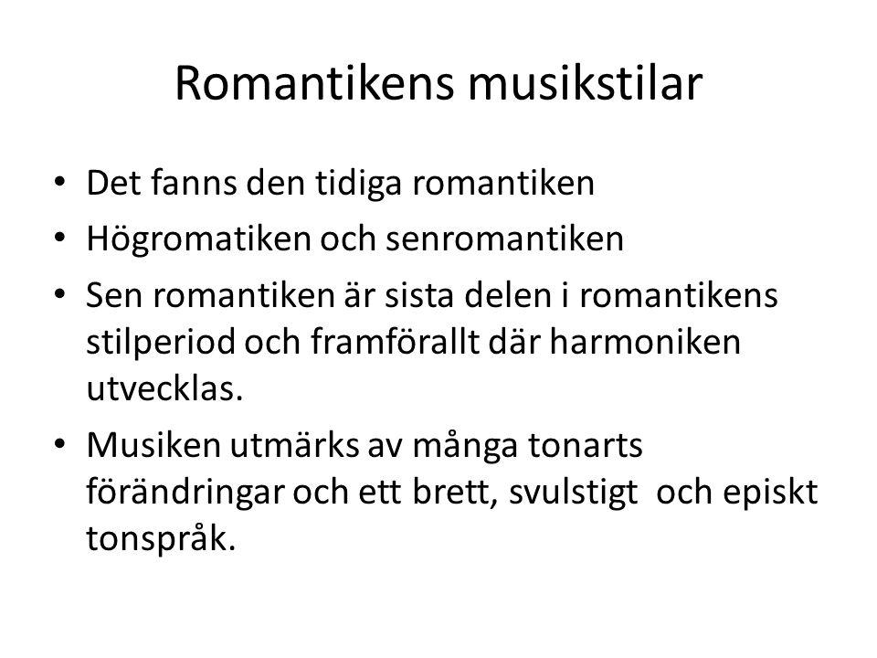 Romantikens musikstilar