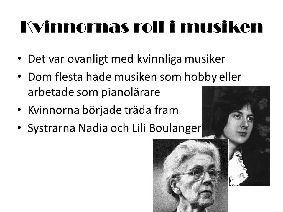 Kvinnornas roll i musiken