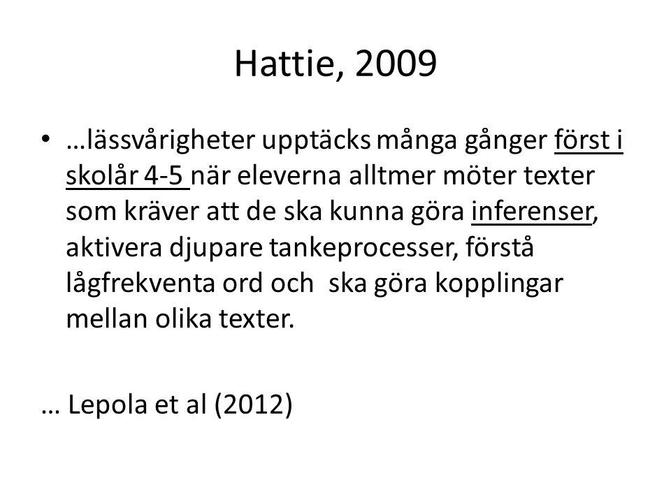 Hattie, 2009