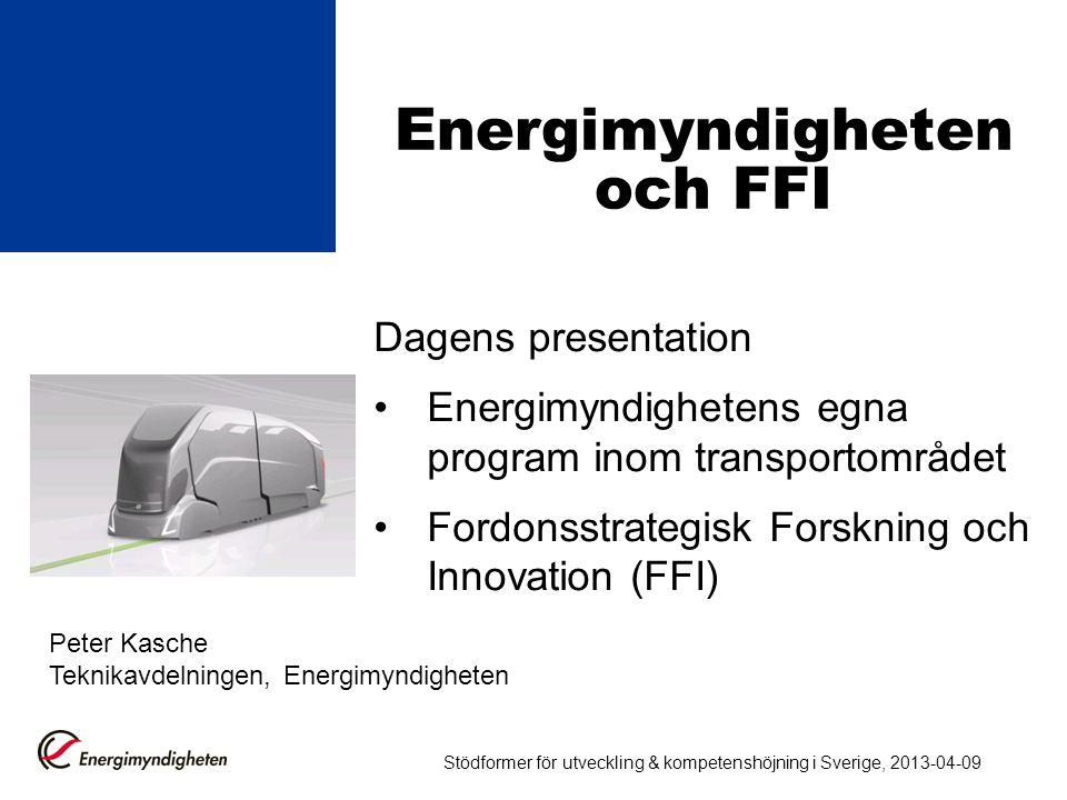 Energimyndigheten och FFI