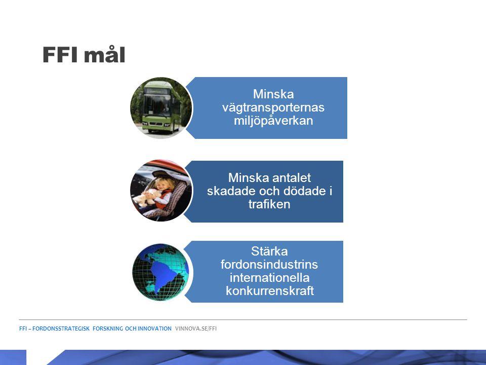 FFI mål Minska vägtransporternas miljöpåverkan