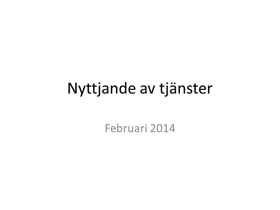 Nyttjande av tjänster Februari 2014