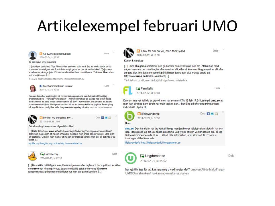 Artikelexempel februari UMO