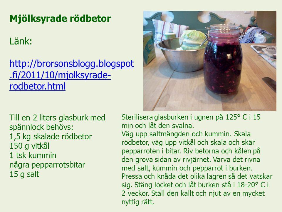 Mjölksyrade rödbetor Länk: