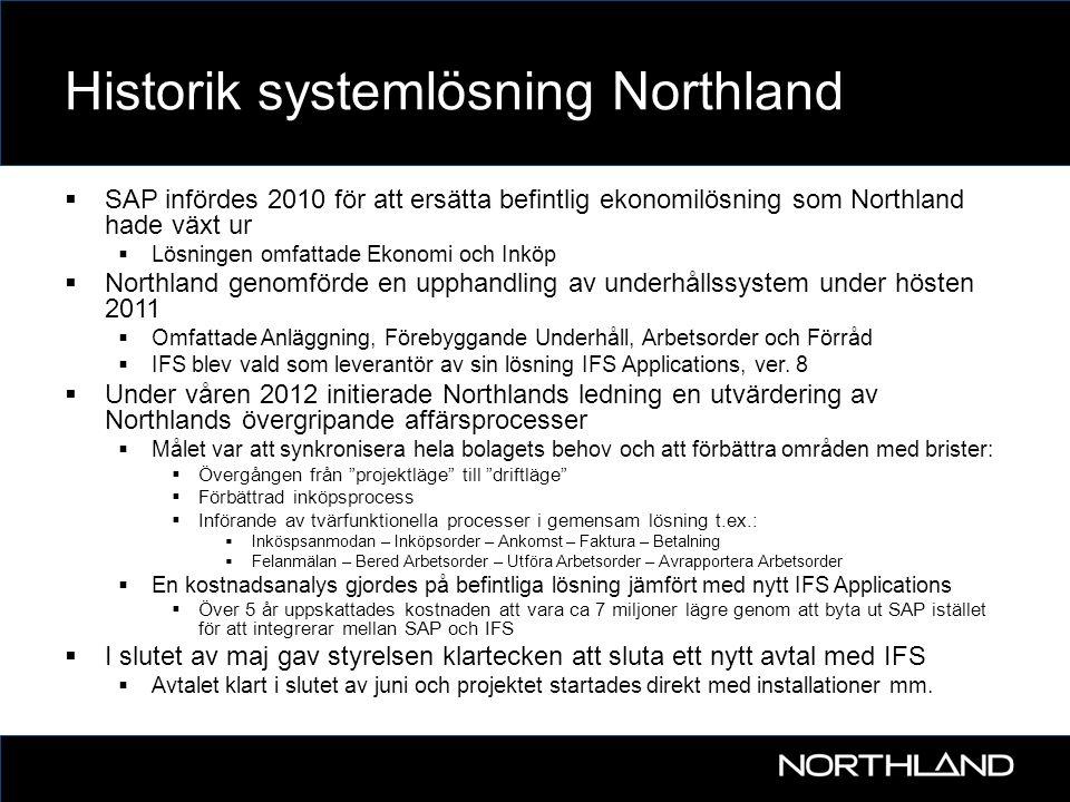 Historik systemlösning Northland