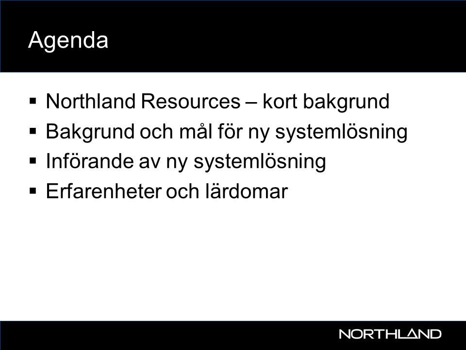 Agenda Northland Resources – kort bakgrund