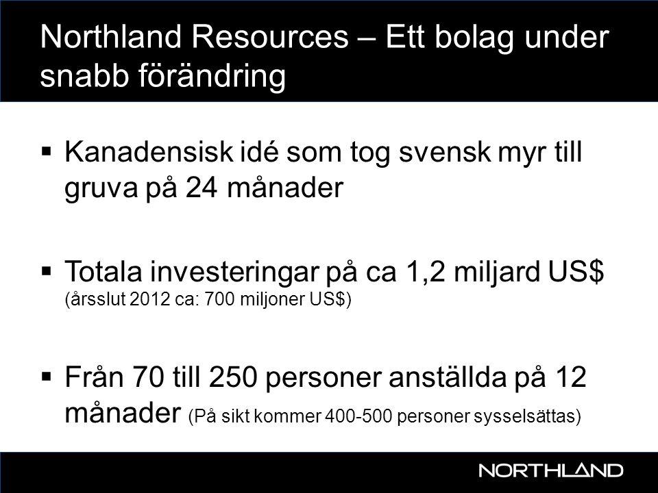 Northland Resources – Ett bolag under snabb förändring