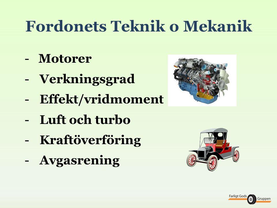 Fordonets Teknik o Mekanik