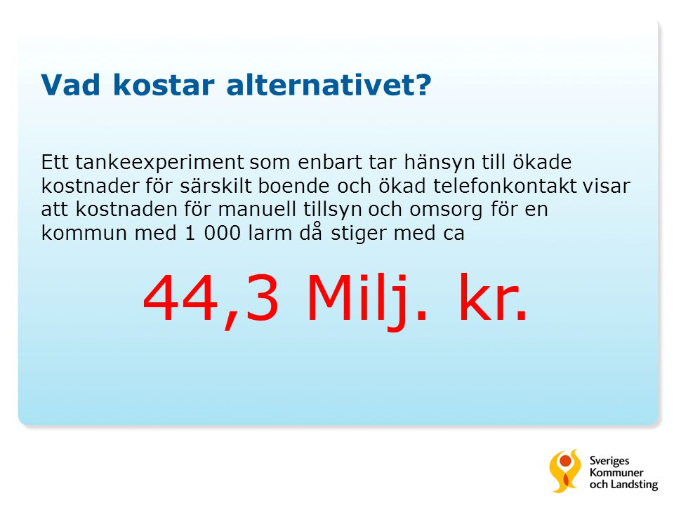 Vad kostar alternativet