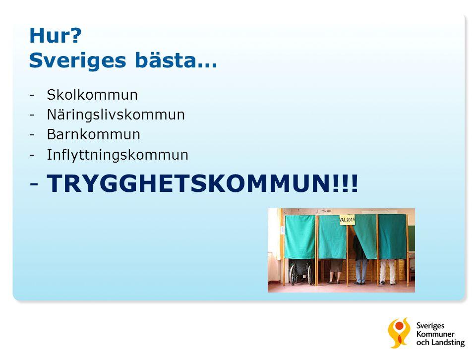 TRYGGHETSKOMMUN!!! Hur Sveriges bästa… Skolkommun Näringslivskommun