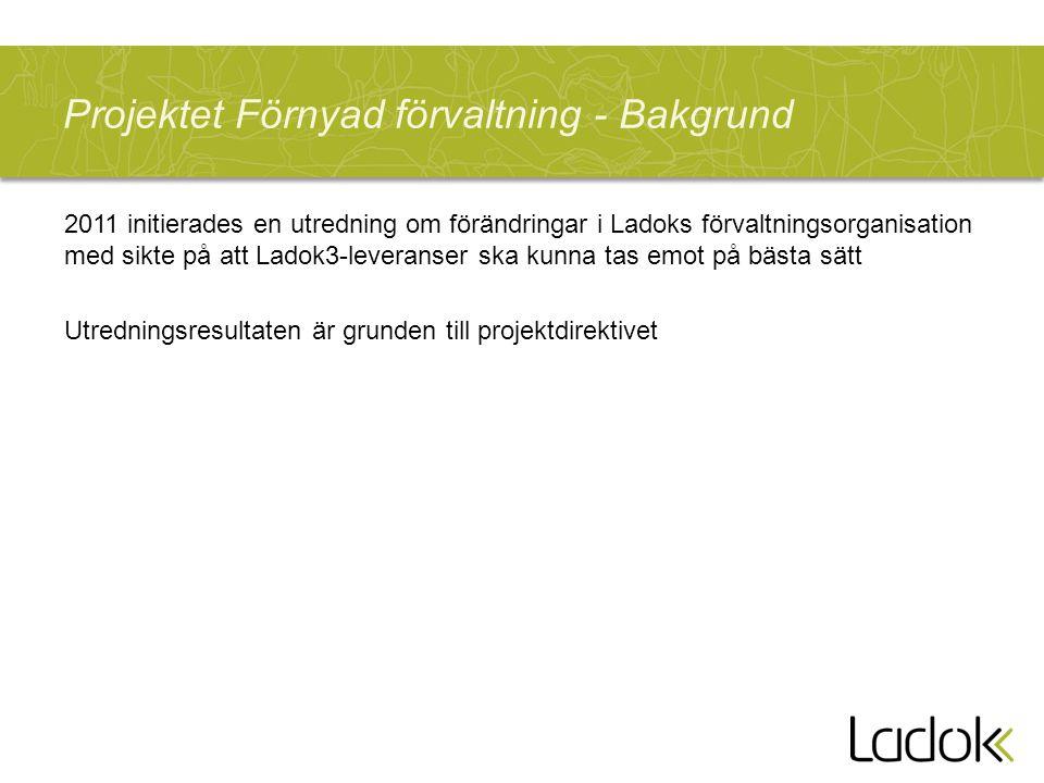 Projektet Förnyad förvaltning - Bakgrund