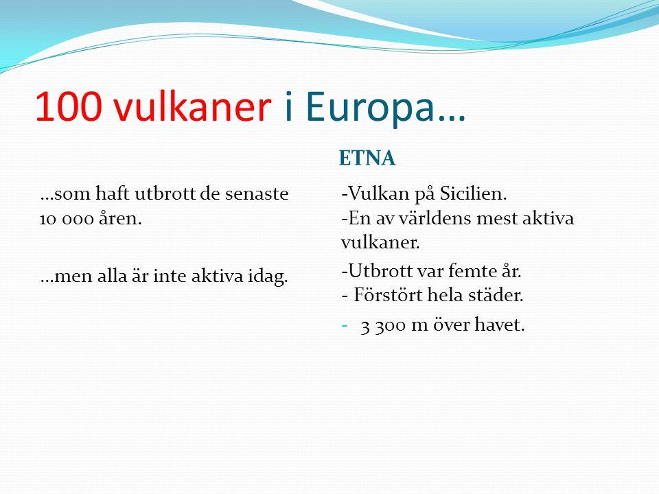 100 vulkaner i Europa… ETNA