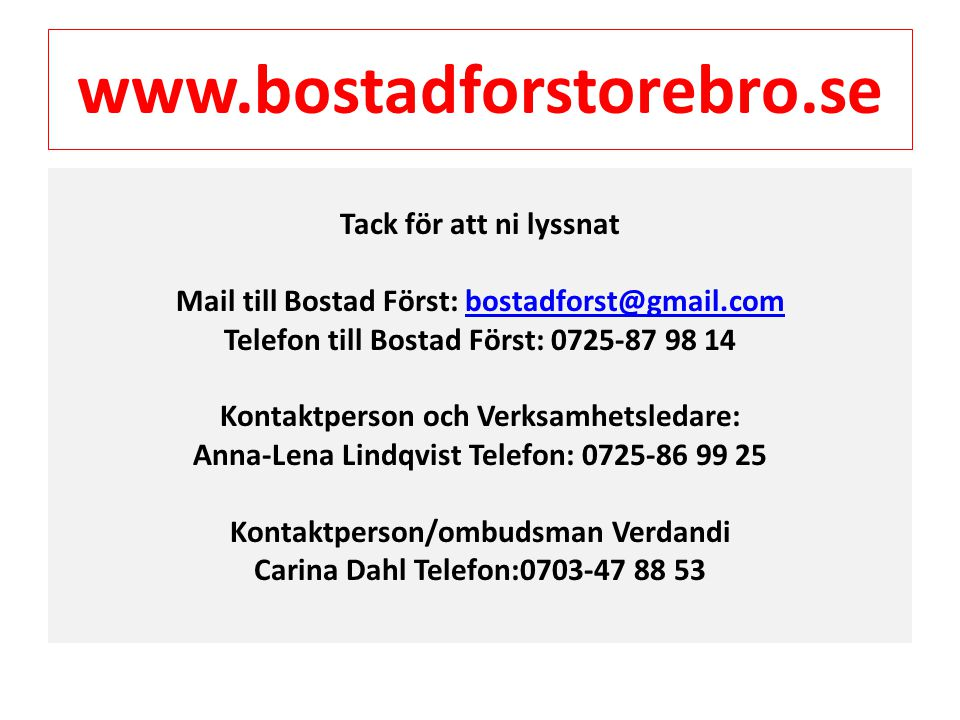 www.bostadforstorebro.se