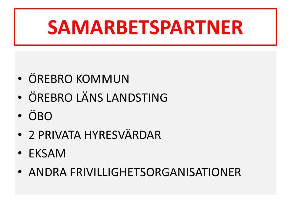 SAMARBETSPARTNER ÖREBRO KOMMUN ÖREBRO LÄNS LANDSTING ÖBO
