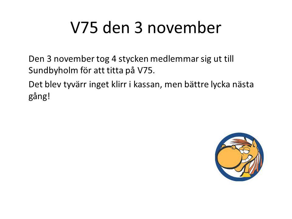 V75 den 3 november