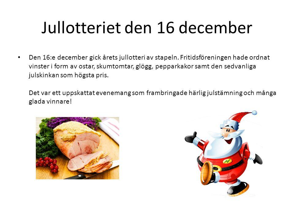 Jullotteriet den 16 december